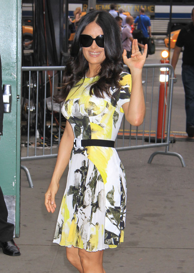 Salma Hayek in Christopher Kane