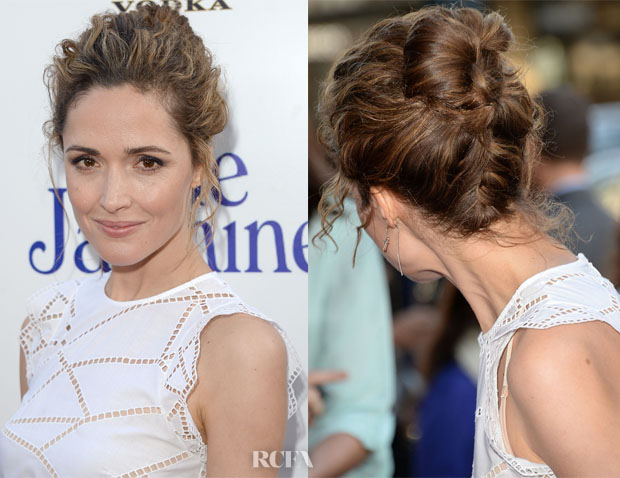 Get the Look Rose Byrne's Textured Summer Updo