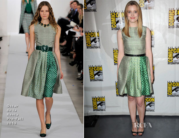 Gillian Jacobs In Oscar de la Renta - 'Community' Press Line Comic-Con 2013