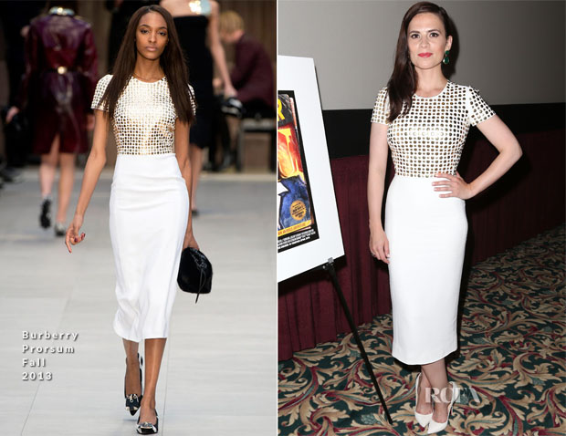 Hayley Atwell In Burberry Prorsum - Marvel One-Shot Comic Con Screening