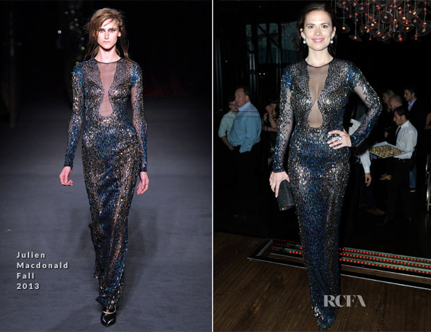 Hayley Atwell In Julien Macdonald - 'The World's End' World Premiere