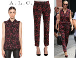 Heidi Klum's A.L.C. 'Mackay' Top And A.L.C. 'Jasper' Silk Pants