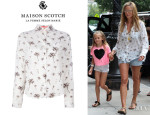 Heidi Klum's Maison Scotch Palm Tree Shirt