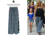 Heidi Klum's Maison Scotch Printed Long Skirt