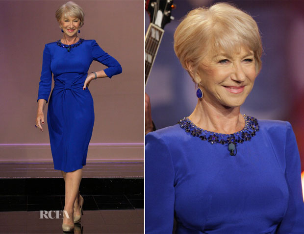 Helen Mirren In Jenny Packham - The Tonight Show with Jay Leno