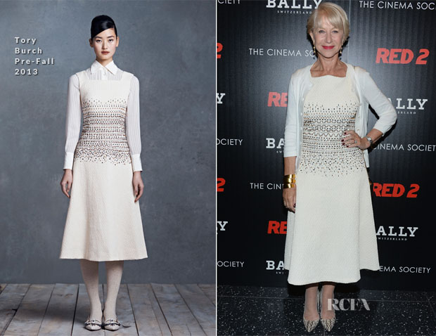 Helen Mirren In Tory Burch - 'RED 2' New York Screening