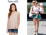 Hilary Duff's Splendid Gingham Tank