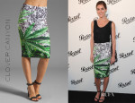 Hilary Rhoda's Clover Canyon How High Neoprene Skirt