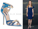 Hilary Swank's Elie Saab Strappy Sandals