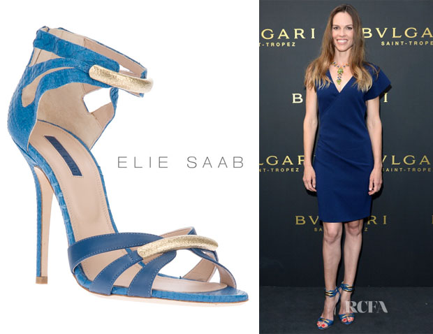 Hilary Swank's Elie Saab Strappy Shoes