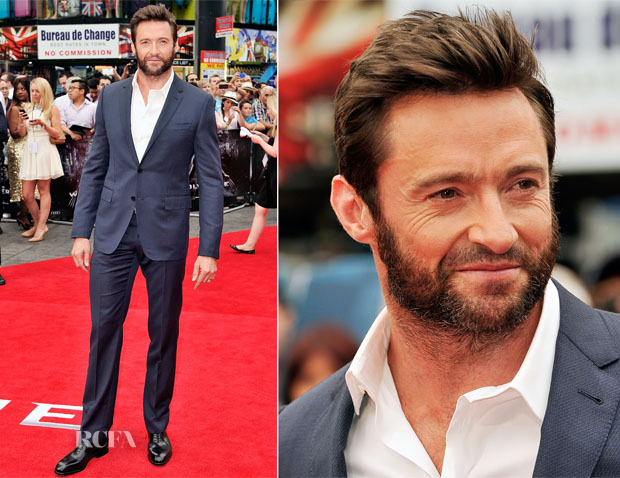 Hugh Jackman In Louis Vuitton - 'The Wolverine' London Premiere
