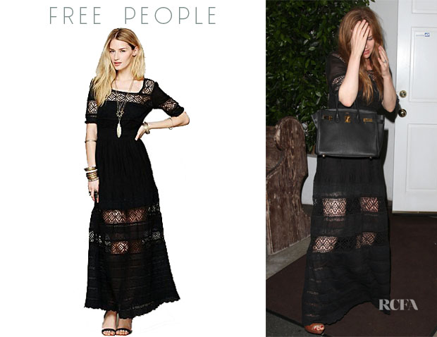 Isla Fisher's Free People 'Mix In The Crochet' Dress