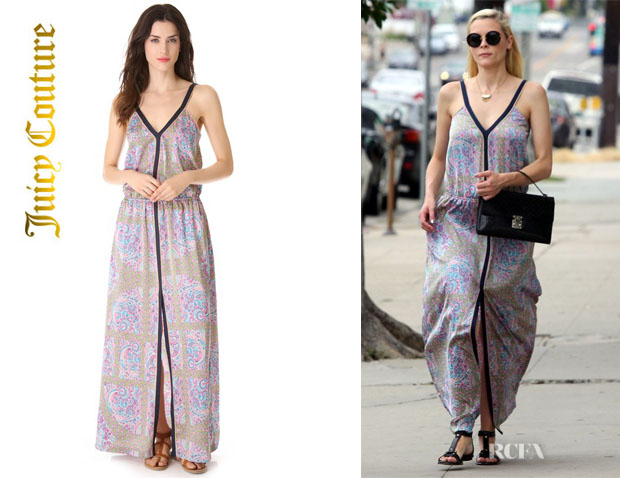 Jaime King's Juicy Couture Imperial Starflower Maxi Dress