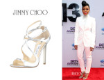 Janelle Monae's Jimmy Choo 'Lance' Strappy Sandals