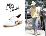 January Jones' Jeffrey Campbell 'Rossdale' Open-Side Oxfords