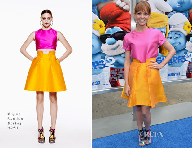 Jayma Mays In Paper London - 'The Smurfs 2′ LA Premiere