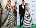 Jelena Ristic In Oscar de la Renta - Novak Djokovic Foundation London Gala Dinner