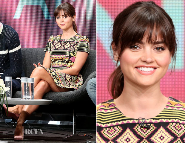 Jenna Coleman In Topshop - 'Doctor Who ' Panel Discussion 2013 Summer TCA Tour