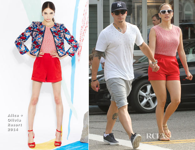 Jennifer Lopez In Alice + Olivia - Shopping In The Hamptons