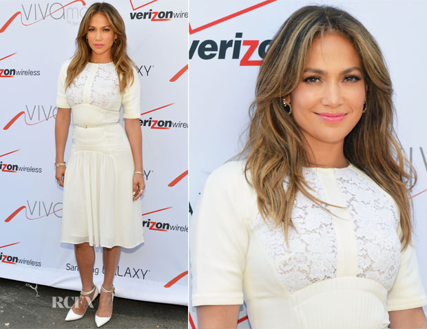 Jennifer Lopez In Elie Saab - Viva Movil Flagship Store Opening
