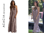 Jennifer Love Hewitt's Acacia Swimwear 'Positano' Silk Long Dress