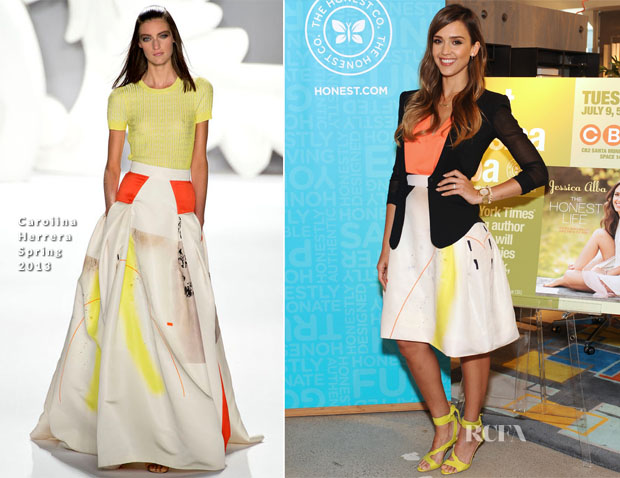 Jessica Alba In Carolina Herrera - 'The Honest Life' Book Signing