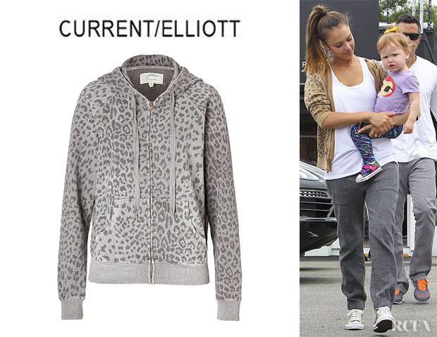 Jessica Alba's CurrentElliott Animal Print Hoodie
