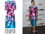 Jessica Pare's Prabal Gurung Floral-Print Cotton and Silk-Blend Satin Dress