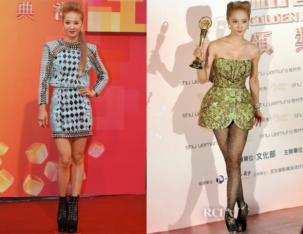 Jolin Tsai In Balmain & Alexander McQueen - 24th Golden Melody Awards