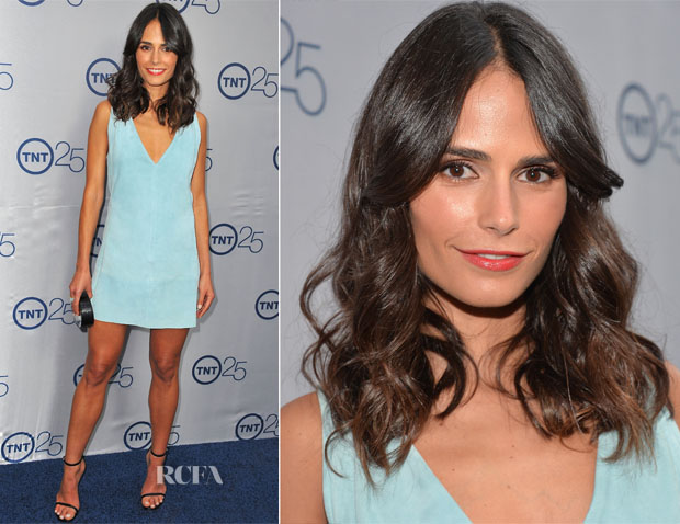 Jordana Brewster In Balenciaga - TNT's 25th Anniversary Party