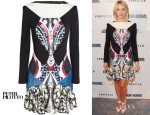 Julianne Hough's Peter Pilotto Caio Stretch-Satin Jersey Dress