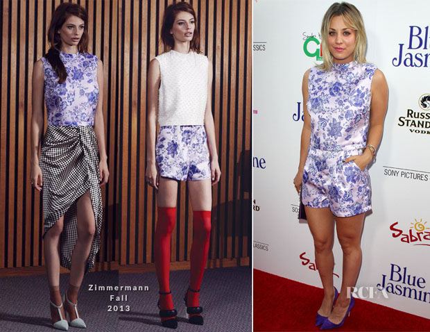 Kaley Cuoco In Zimmermann - 'Blue Jasmine' LA Premiere