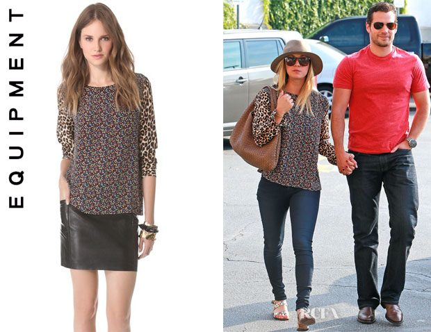 Kaley Cuoco's Equipment 'Liam' Blouse