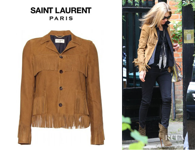 Kate Moss' Saint Laurent Fringe Suede Jacket