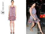 Katy Perry's Isabel Marant 'Vally' Paisley Silk Gauze Dress