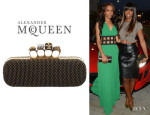 Kelly Rowland's Alexander McQueen Studded Knuckle Box Clutch