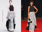 Kerry Washington's Wes Gordon Filigree Scuba Cascade Gown