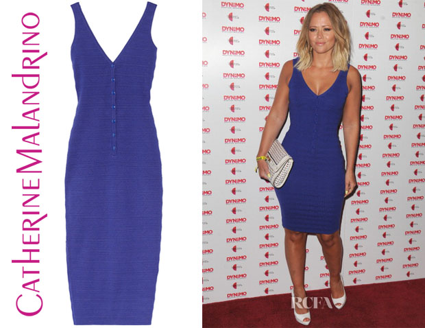 Kimberley Walsh's Catherine Malandrino Textured Knitted Dress