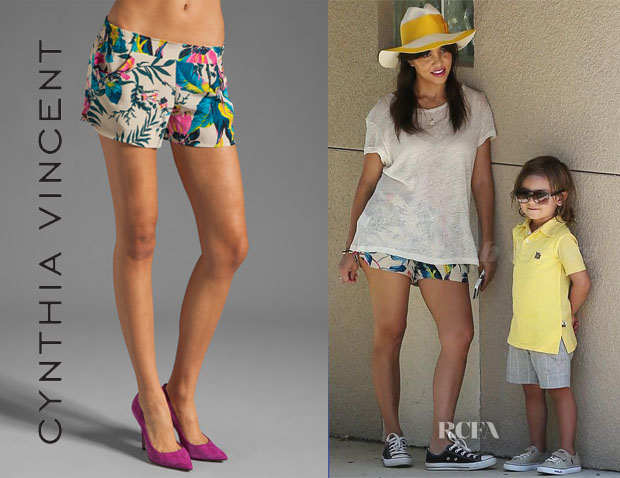 Kourtney Kardashian's Cynthia Vincent Tropic Shorts