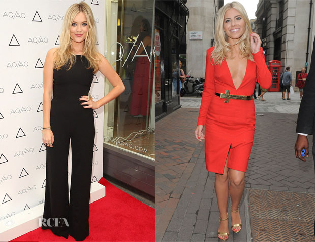 Laura Whitemore & Mollie King In AQAQ - AQAQ VIP Launch