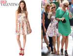 Leslie Mann's RED Valentino Polka Dot Flower Dress