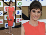 Lizzy Caplan In J. Mendel - CW, CBS And Showtime 2013 Summer TCA Party