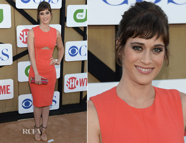 Lizzy Caplan In J Mendel - CW, CBS And Showtime 2013 Summer TCA Party