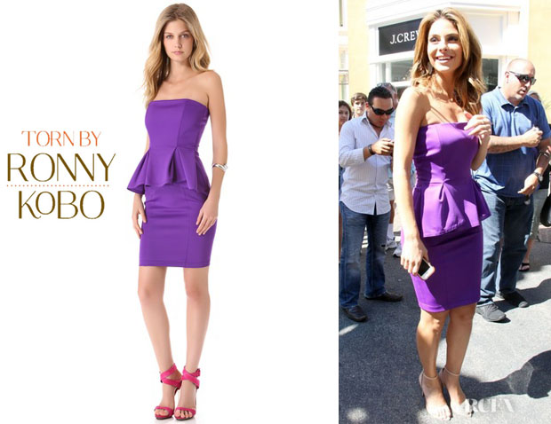 Maria Menounos' Torn by Ronny Kobo 'Camile' Scuba Dress