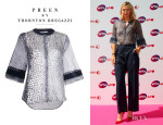 Maria Sharapova's Preen By Thornton Bregazzi Alligator Blouse