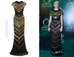 Michelle Williams' Jason Wu Beaded Silk-Chiffon Gown