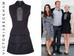 Michelle Williams' Victoria Beckham Front Panel Tiered Dress