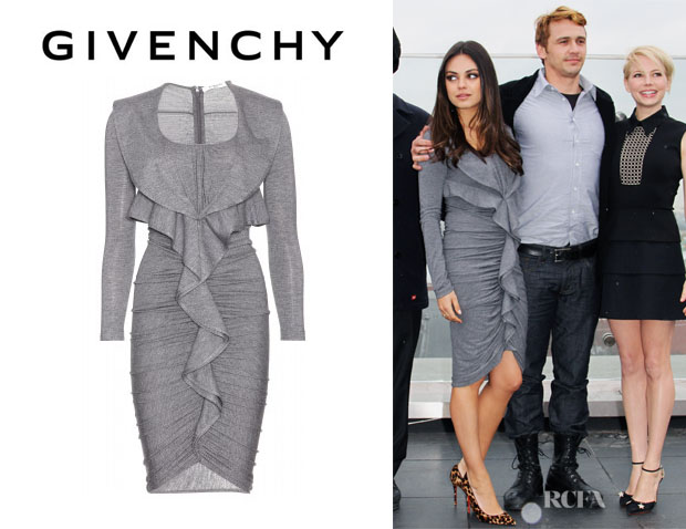 Mila Kunis' Givenchy Ruffle Draped Dress