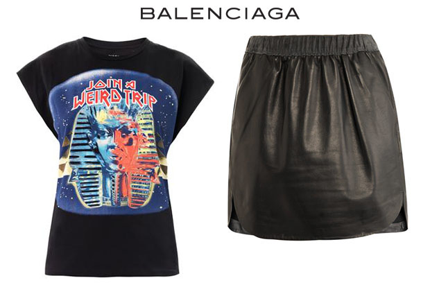 Miley Balenciaga top