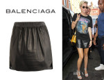 Miley Cyrus' Balenciaga Leather Skirt